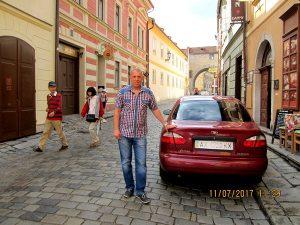 Лебедев Константин Алланович, Путешествие в Европу на своем автомобиле, Крумлов-чешский, Чехия